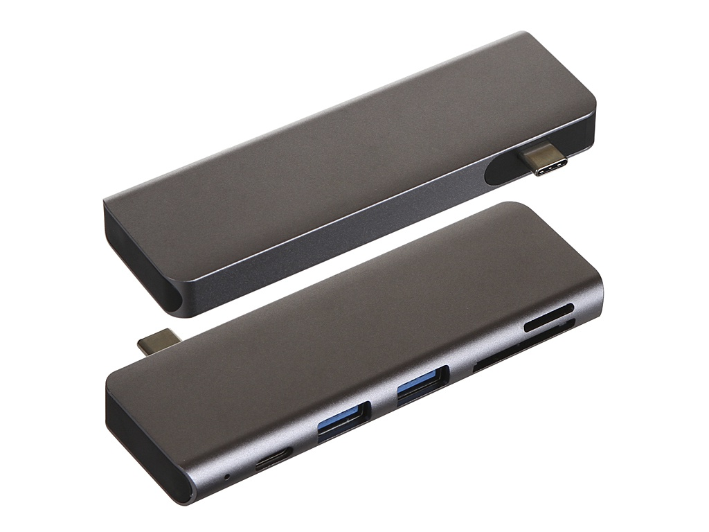 Хаб Baseus Harmonica 5in1 HUB Adapter Grey CAHUB-K0G