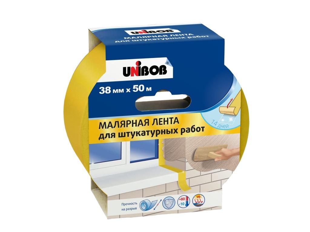 Малярная лента для штукатурных работ Unibob 38mm x 50m 78948