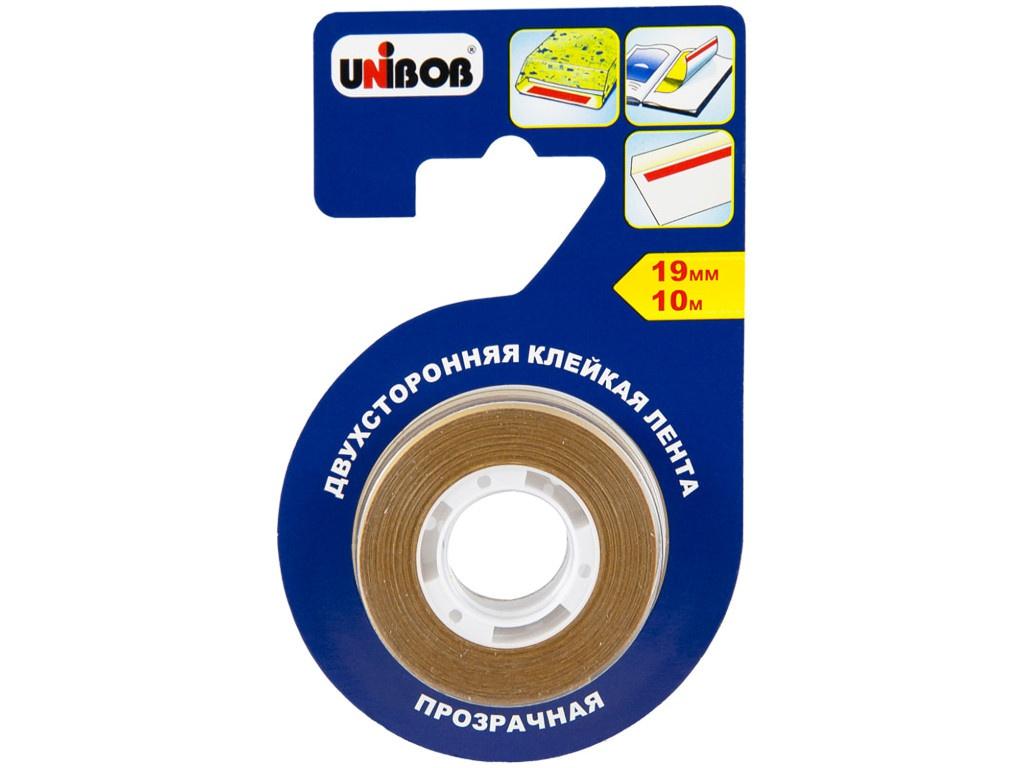 Клейкая лента Unibob Двухсторонняя 19mm x 10m 51729 цена и фото