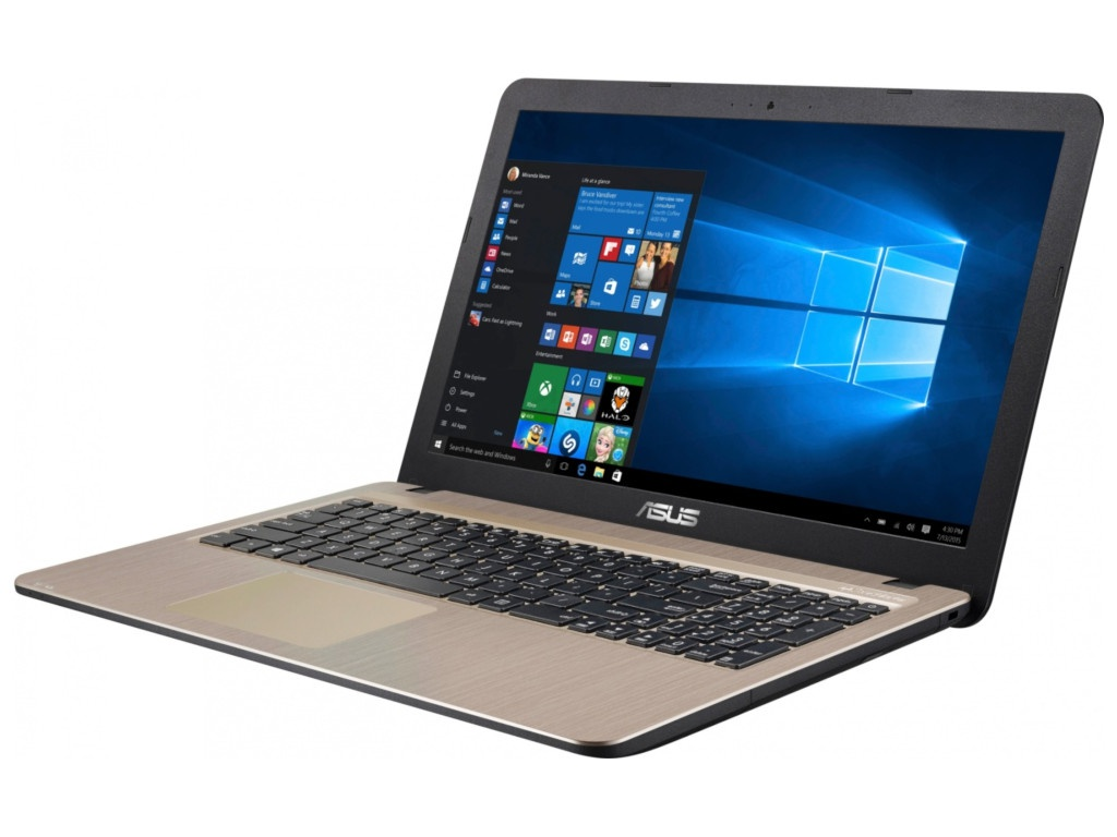 Ноутбук ASUS VivoBook R540YA-XO808T Black 90NB0CN1-M12080 (AMD E2-6110 1.5 GHz/4096Mb/500Gb/AMD Radeon R2/Wi-Fi/Bluetooth/Cam/15.6/1366x768/Windows 10 Home 64-bit) ноутбук hp 15 db0030ur maroon burgundy 4gy29ea amd e2 9000e 1 5 ghz 4096mb 500gb dvd rw amd radeon r2 wi fi bluetooth cam 15 6 1366x768 windows 10 home 64 bit