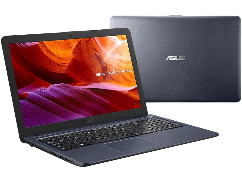 Ноутбук ASUS VivoBook X543UB-DM938T Grey 90NB0IM7-M13220 (Intel Pentium 4417U 2.3 GHz/4096Mb/500Gb/nVidia GeForce MX110 2048Mb/Wi-Fi/Bluetooth/Cam/15.6/1920x1080/Windows 10 Home 64-bit) ого pc home3d intel pentium g4400 3 30ghz 4gb 500gb 2048mb nvidia gt 710 usb 3 0 450w windows 10