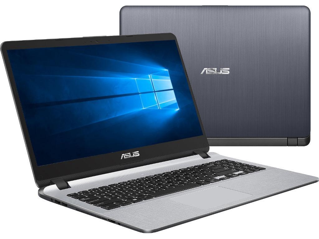 Ноутбук ASUS VivoBook X507UF-BQ205T Grey 90NB0JB1-M02480 (Intel Core i3-7020U 2.3 GHz/6144Mb/1000Gb/nVidia GeForce MX130 2048Mb/Wi-Fi/Bluetooth/Cam/15.6/1920x1080/Windows 10 Home 64-bit)