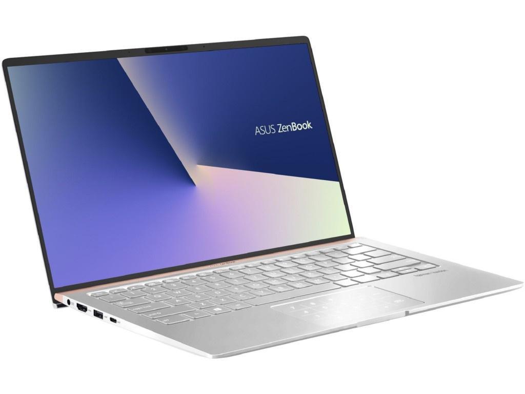 Ноутбук ASUS Zenbook UX433FN-A5077T 90NB0JQ4-M04640 (Intel Core i5-8265U 1.6GHz/8192Mb/256Gb SSD/No ODD/nVidia GeForce MX150 2048Mb/Wi-Fi/Bluetooth/Cam/14/1920x1080/Windows 10 64-bit)