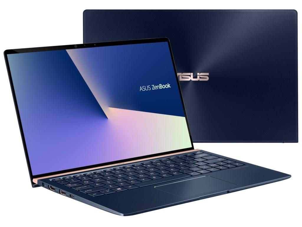 Ноутбук ASUS Zenbook UX333FN-A3067T 90NB0JW1-M03180 (Intel Core i5-8265U 1.6GHz/8192Mb/256Gb SSD/No ODD/nVidia GeForce MX150 2048Mb/Wi-Fi/Bluetooth/Cam/13.3/1920x1080/Windows 10 64-bit)