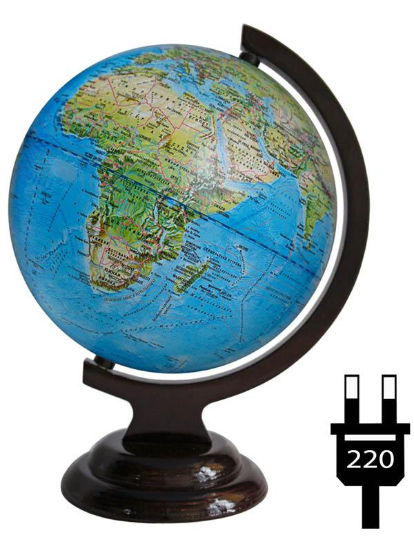 Глобус Глобусный мир Ландшафтный, школьный 210mm 10229 глобусный мир глобус ландшафтный диаметр 32 см