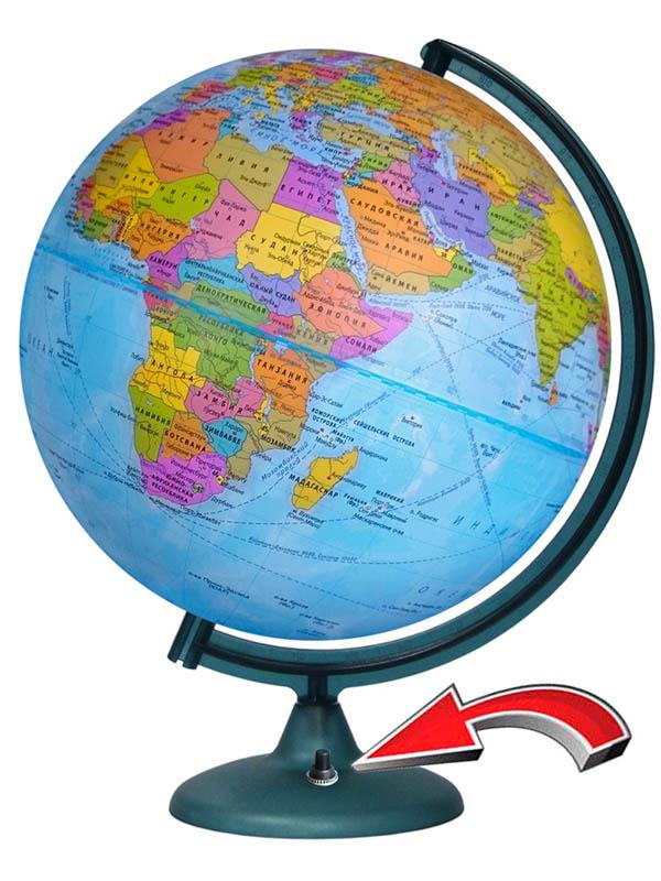 Глобус Глобусный мир политический 320mm с подстветкой и батарейкой 16024