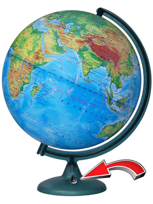 Глобус Глобусный мир Физический 320mm с подстветкой и батарейкой 16018 1 pieces miniature deep groove ball bearing 16018 16018rs 16018 2rs 16018 2rs size 90x140x16mm