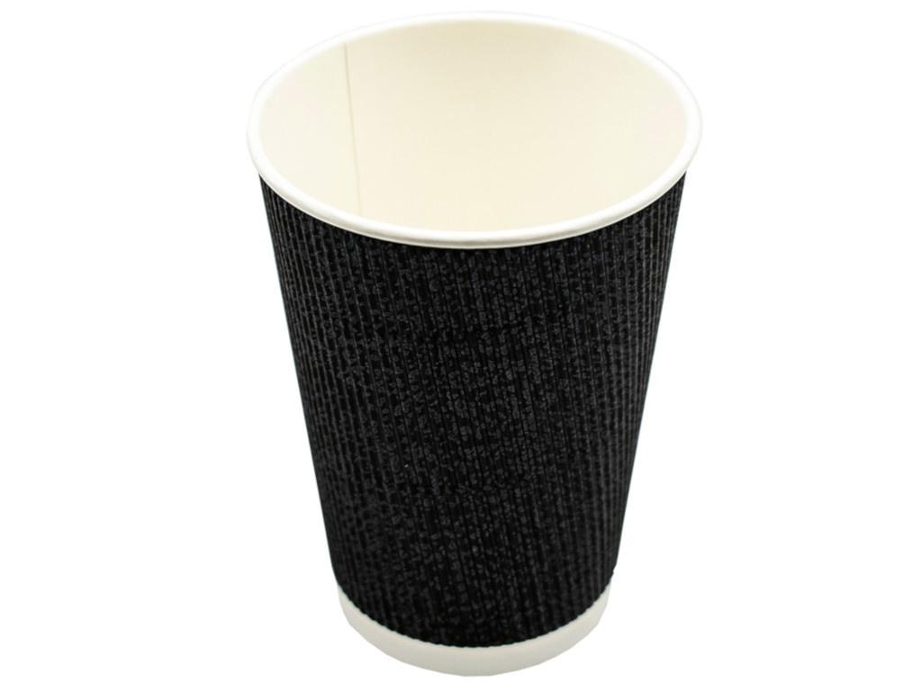 Одноразовые стаканы Ecovilka 400ml 20шт Black БСГЧ400