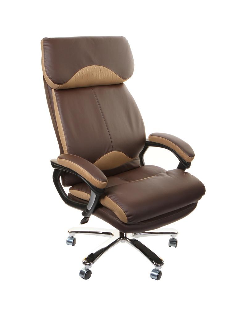 Компьютерное кресло TetChair Grand кожа + искусственная кожа, ткань Brown-Bronze цена