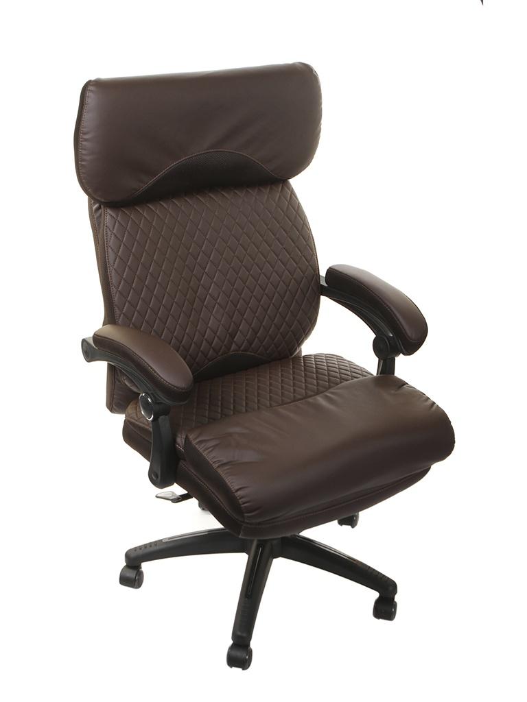Компьютерное кресло TetChair Chief искусственная кожа, ткань Brown-Brown Quilted 13111