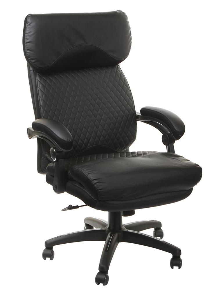 Компьютерное кресло TetChair Chief искусственная кожа, ткань Black-Black Quilted-Black 36-6/36-6/11 12851