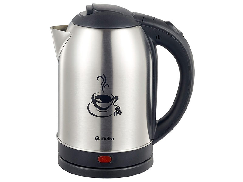 Чайник Delta DL-1333 Coffee Time Black стайлер delta lux dl 0631 black crimson