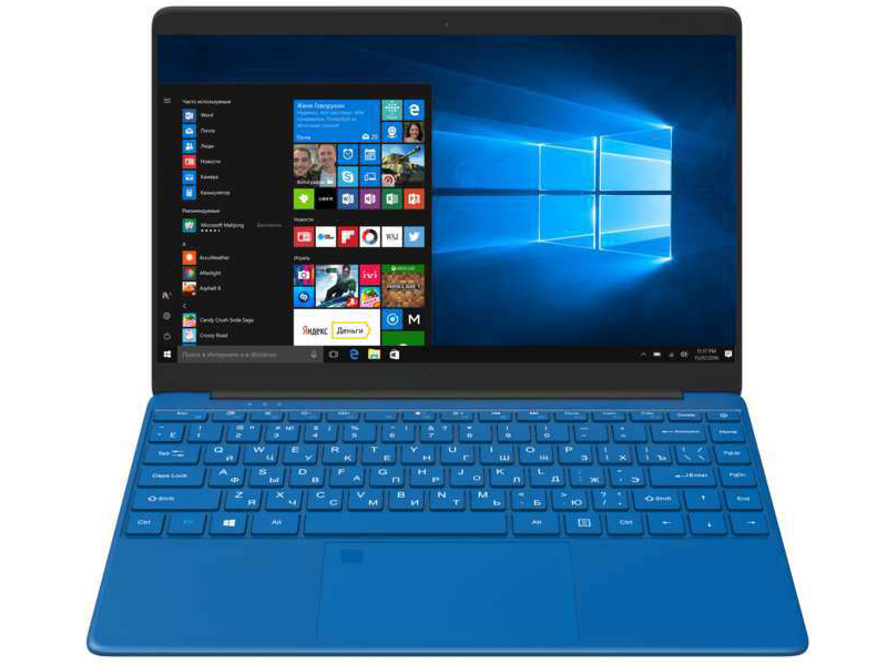 цены Ноутбук Irbis NB245PRO Blue (Intel Celeron N3350 1.1 GHz/4096Mb/32Gb SSD/Intel HD Graphics/Wi-Fi/Bluetooth/Cam/14.0/1920x1080/Windows 10 Pro 64-bit)