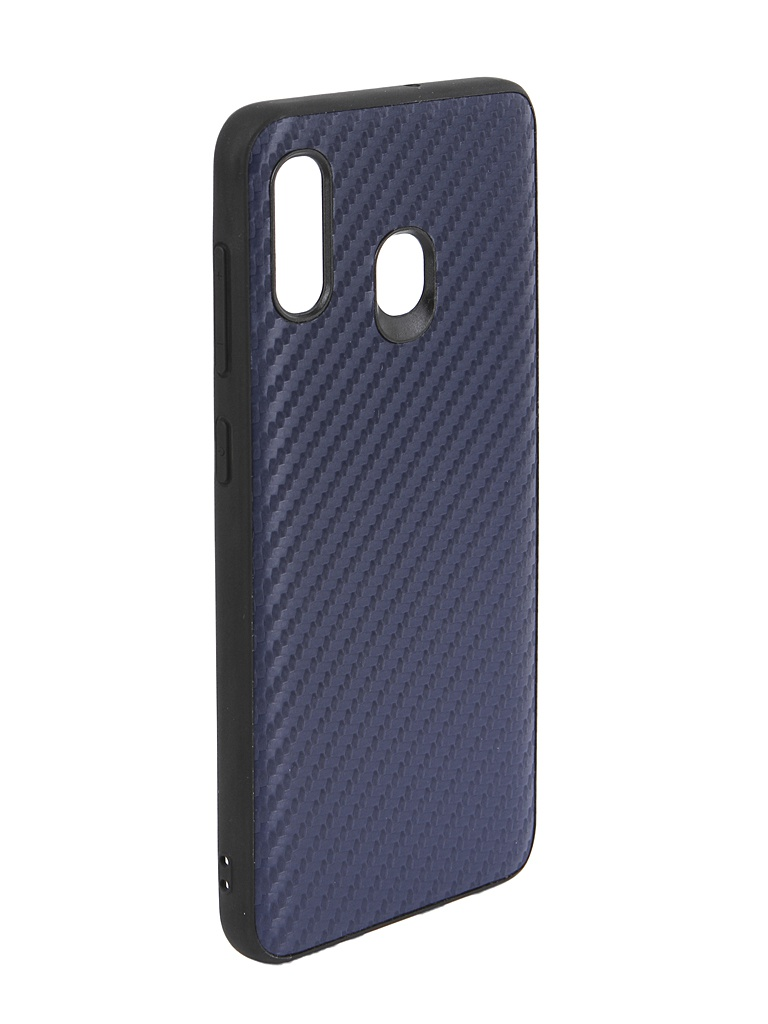 Чехол G-Case для Samsung Galaxy A30 SM-A305F / A20 SM-A205F Carbon Dark Blue GG-1055 чехол g case для apple iphone 11 pro max carbon dark blue gg 1165