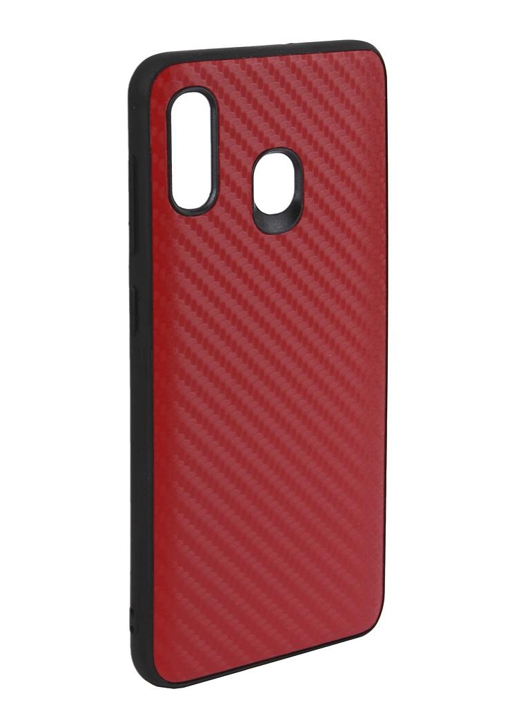 Аксессуар Чехол G-Case для Samsung Galaxy A30 SM-A305F / A20 SM-A205F Carbon Red GG-1056 аксессуар чехол g case для samsung galaxy a10 sm a105f carbon dark blue gg 1106
