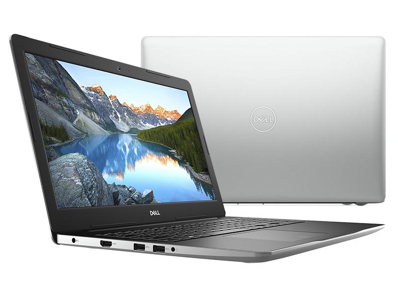 Ноутбук Dell Inspiron 3582 Silver 3582-5000 (Intel Pentium N5000 1.1 GHz/4096Mb/500Gb/DVD-RW/Intel HD Graphics/Wi-Fi/Bluetooth/Cam/15.6/1366x768/Linux) ноутбук acer extensa ex2519 p9dq pentium n3710 4gb 500gb dvd rw intel hd graphics 405 15 6 hd 1366x768 linux black wifi bt cam 3500mah