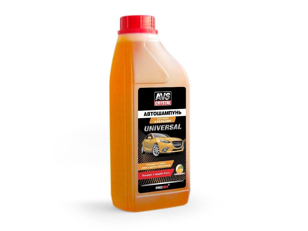 Автошампунь AVS AVK-704 Универсальный, апельсин 1L A07566S