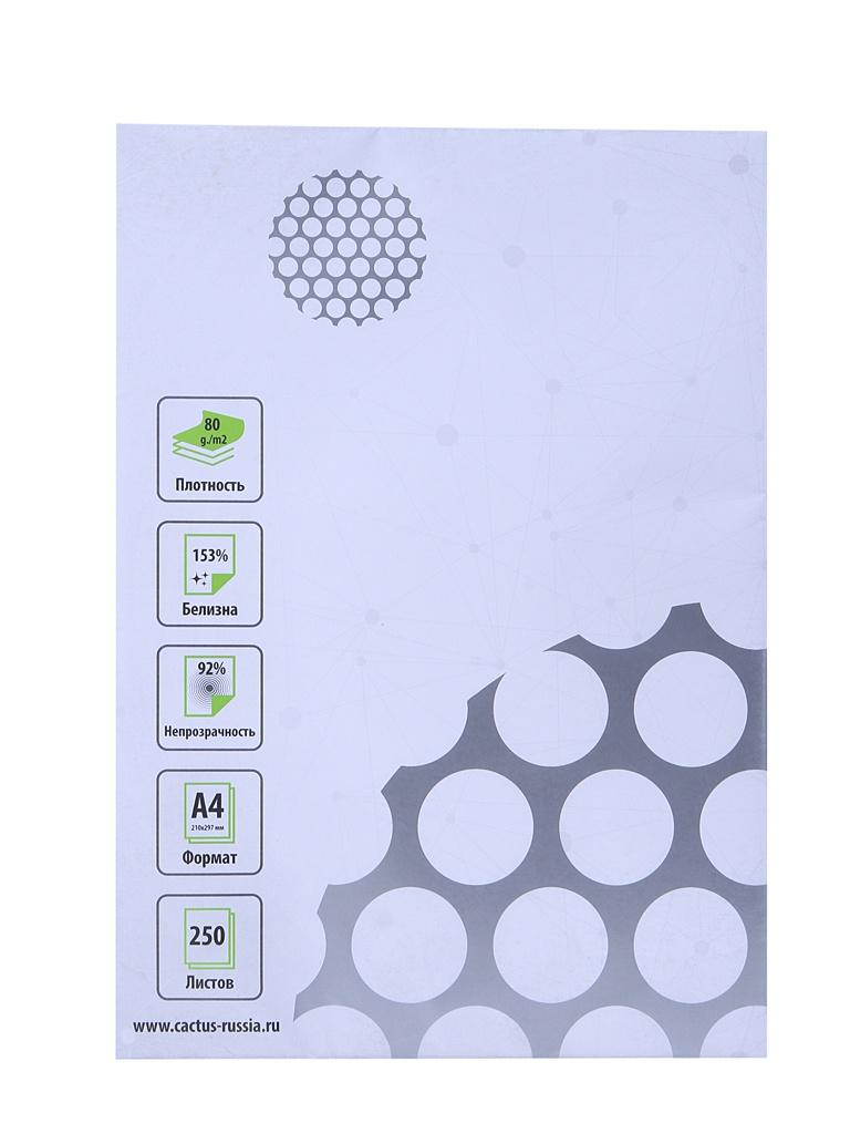 Бумага Cactus A4 80g/m2 250 листов CS-OPB-A480250