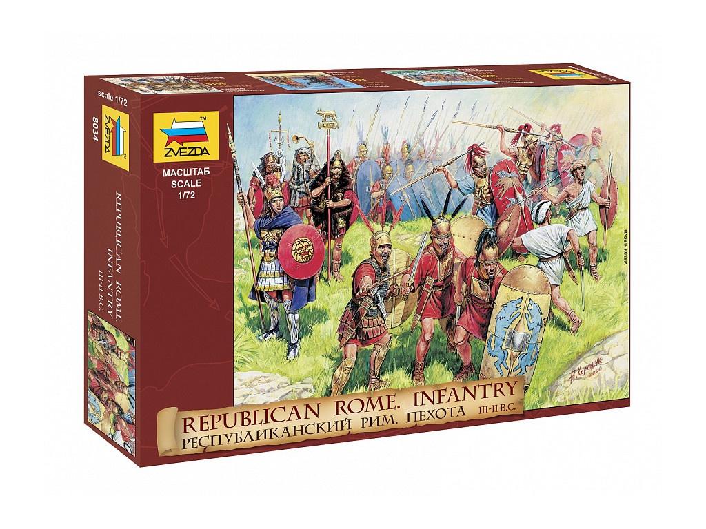 Сборная модель Zvezda Пехота Римской республики 8034