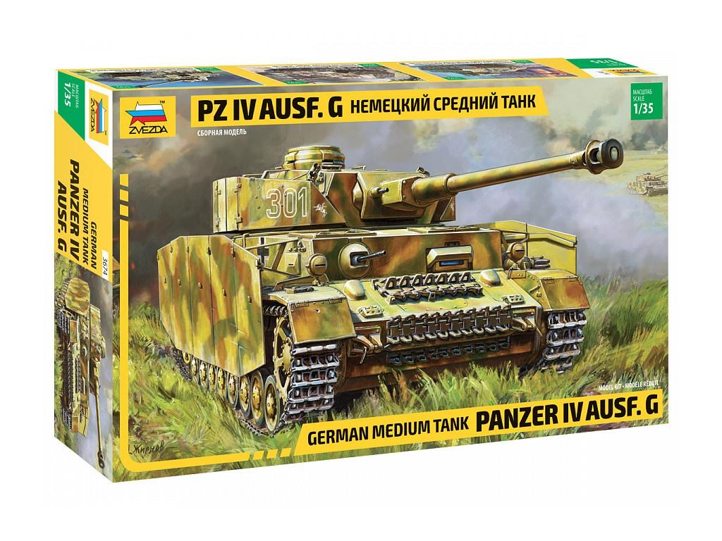 Сборная модель Zvezda Немецкий танк T-IV G 3674