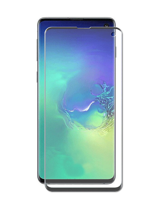 Аксессуар Защитное стекло Onext для Samsung Galaxy S10E 2019 с рамкой Black 42081 защитное стекло для samsung g925f galaxy s6 edge onext изогнутое по форме дисплея с прозрачной рамкой