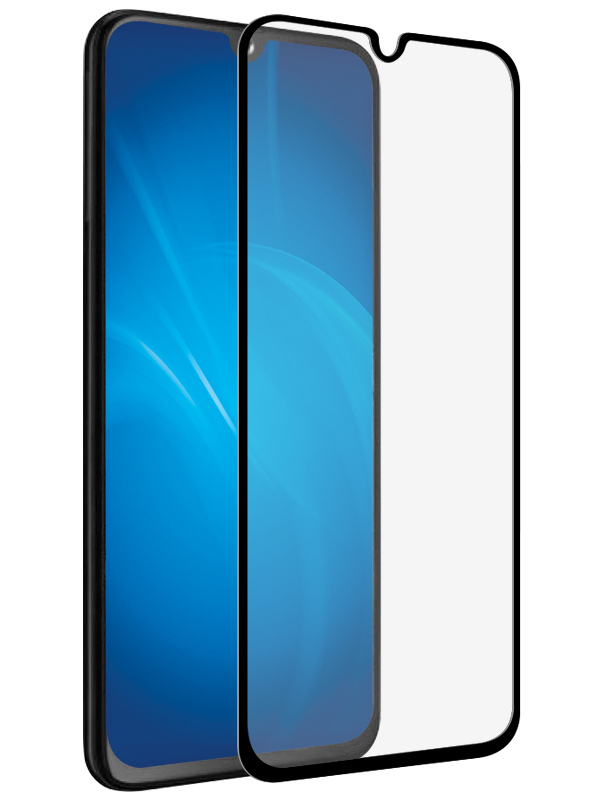 Аксессуар Защитное стекло Onext для Samsung Galaxy A20 2019 с рамкой Black 42154 защитное стекло для samsung g925f galaxy s6 edge onext изогнутое по форме дисплея с прозрачной рамкой