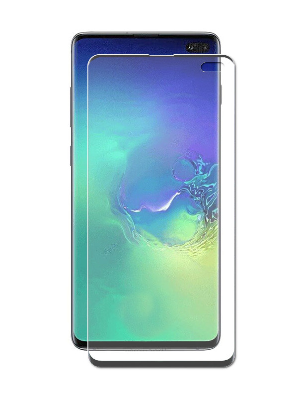 все цены на Аксессуар Защитное стекло Ainy для Samsung Galaxy S10 Plus Full Screen Cover 6D Full Glue UV 0.2mm Clear A83-S002R онлайн