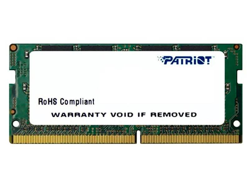 Модуль памяти Patriot Memory DDR4 SO-DIMM 2400MHz PC4-19200 CL17 - 8Gb PSD48G240082S