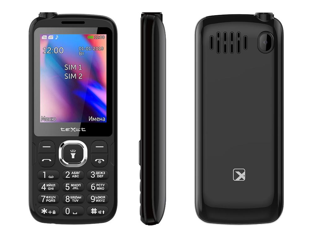 Сотовый телефон teXet TM-D325 Black мобильный телефон texet tm d228