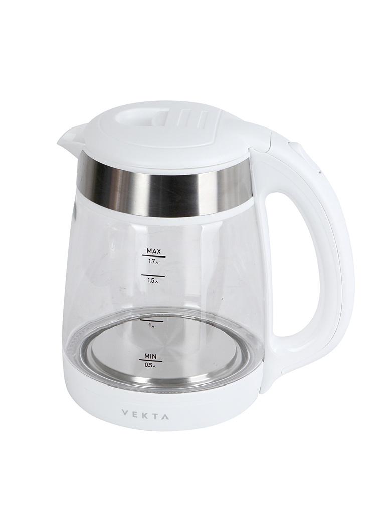 Чайник VEKTA KMG-1703 White-Steel