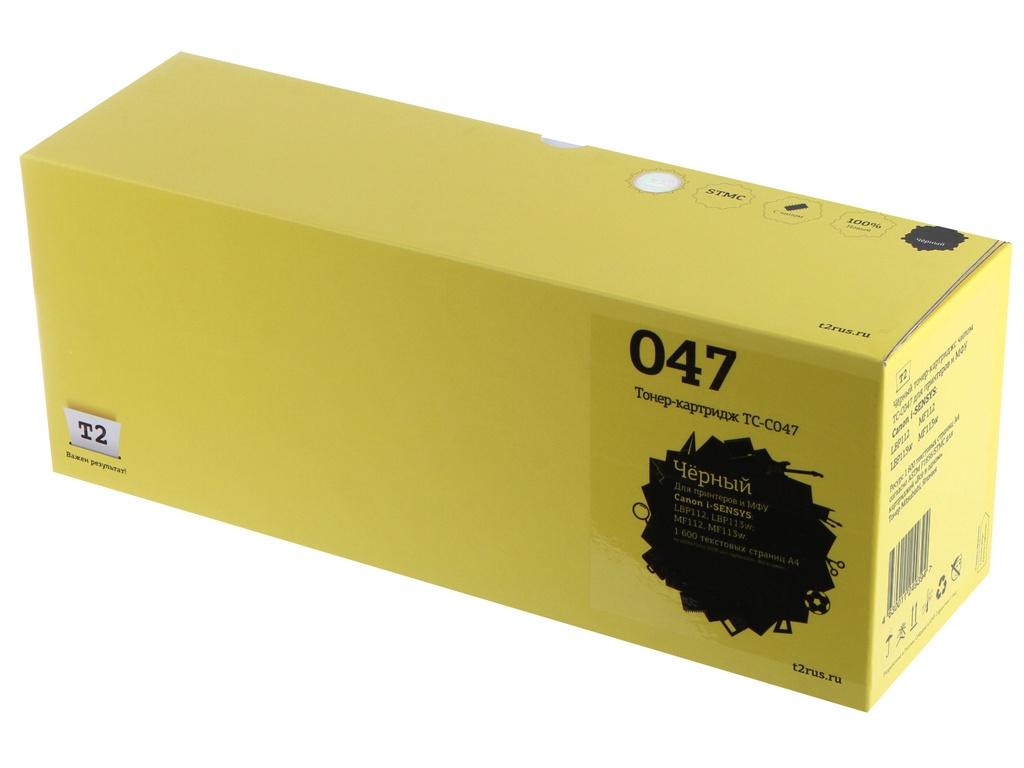 Картридж T2 TC-C047 для Canon i-SENSYS LBP112/LBP113w/MF112/MF113w Black