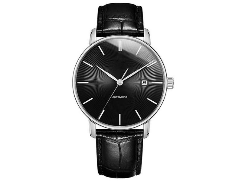 Фото - Часы Xiaomi Twenty Seventeen Light Mechanical Watch Black cjiaba water resistant men s stylish pu band analog mechanical wristwatch golden black