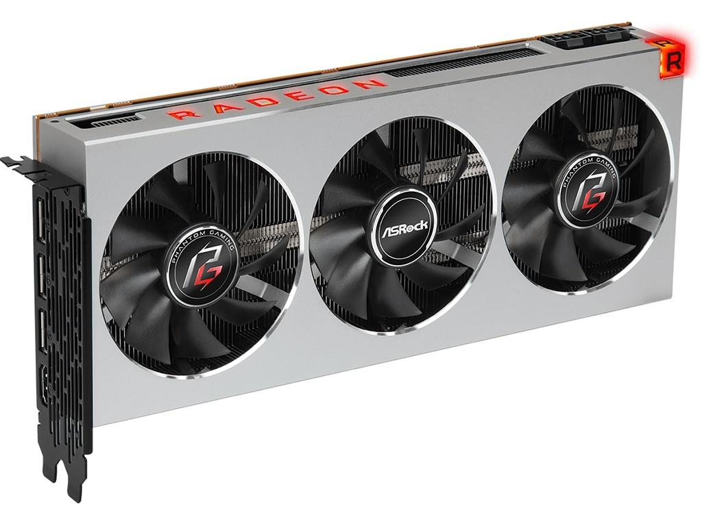 Видеокарта ASRock AMD Radeon VII Phantom Gaming X 1750Mhz 16384Mb 4096 bit 3xDP DVI HDMI PG RADEON 16G