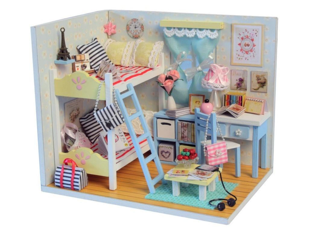 Сборная модель DIY House MiniHouse Комната девчонок D014