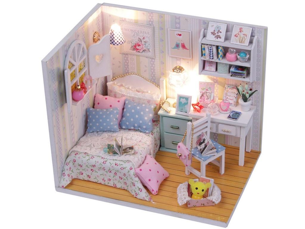 Сборная модель DIY House MiniHouse Комната Полины M013