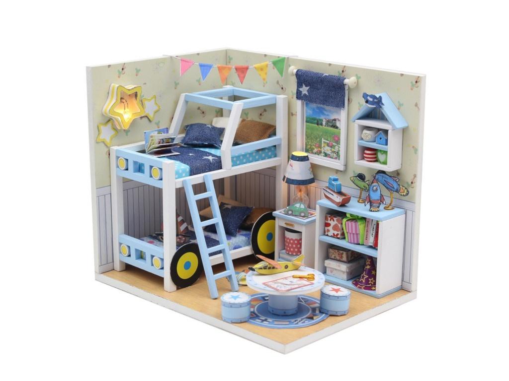 Сборная модель DIY House MiniHouse Комната мальчишек M019