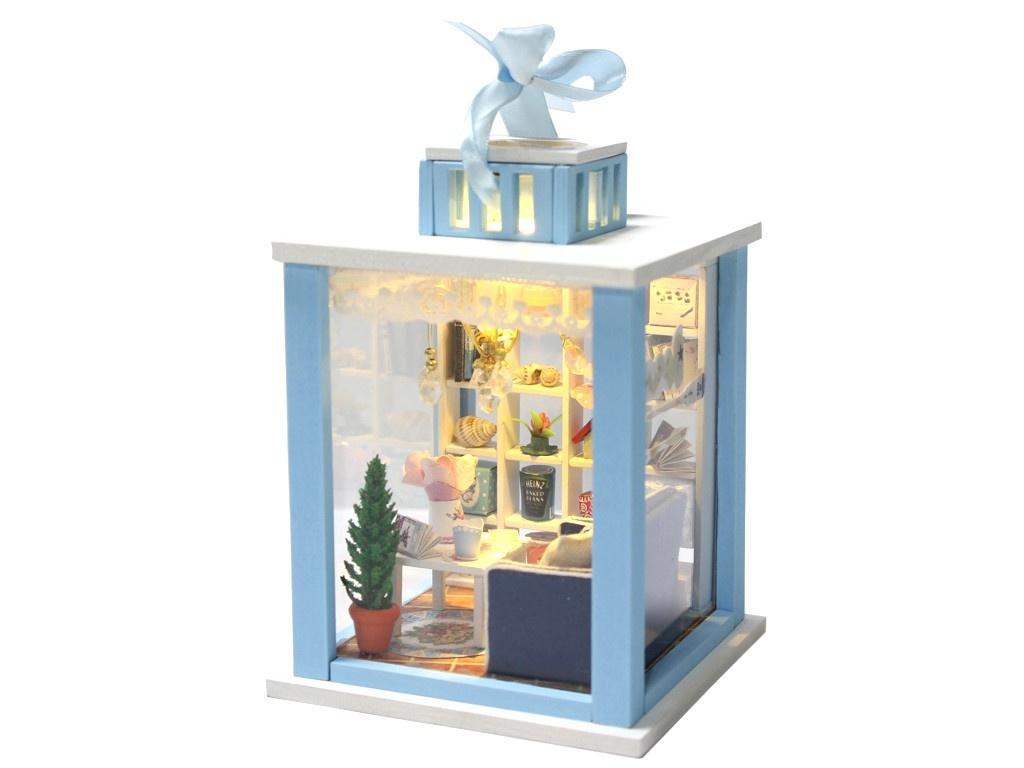 Сборная модель DIY House MiniHouse Фонарик Беседка у моря M023