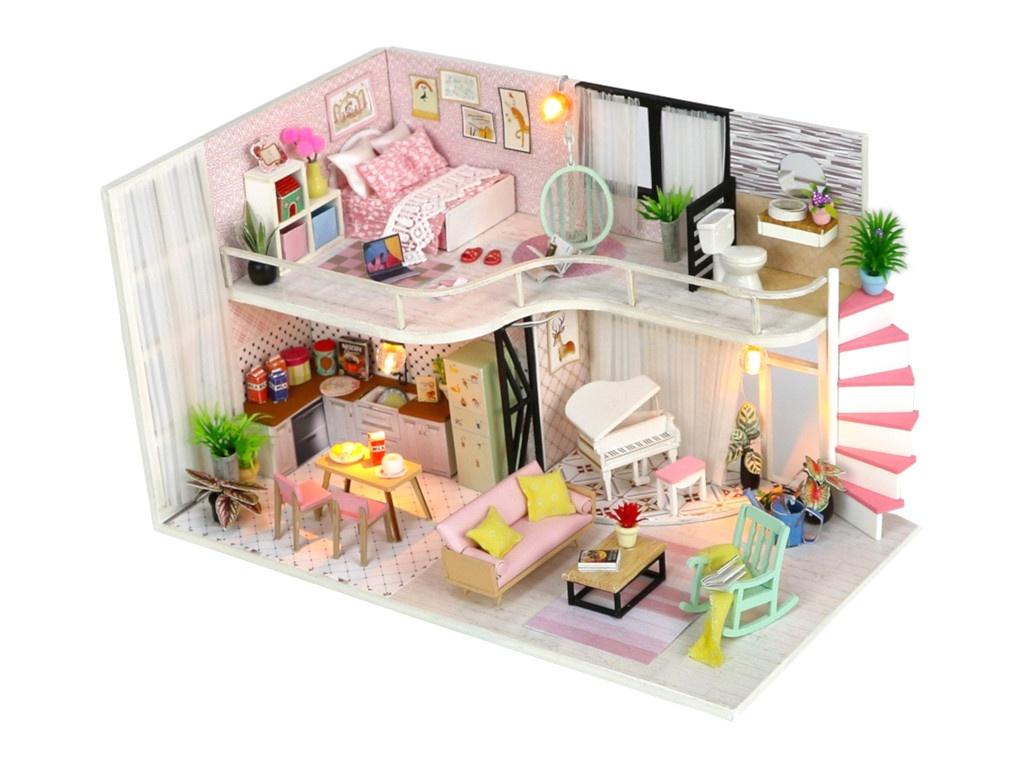 Сборная модель DIY House MiniHouse Розовый лофт M035