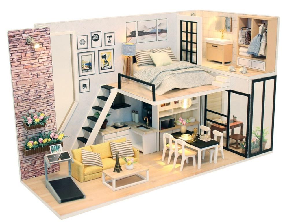 Сборная модель DIY House MiniHouse Студия в стиле модерн M038