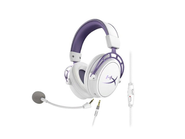 Kingston HyperX Cloud Alpha Headset Purple-White HX-HSCA-PL
