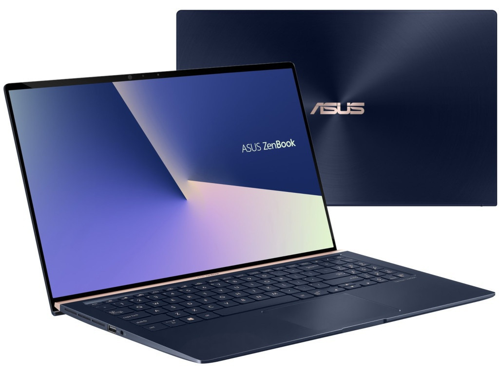Ноутбук ASUS Zenbook UX533FD-A8105R Royal Blue 90NB0JX1-M01640 (Intel Core i7-8565U 1.8GHz/16384Mb/1024Gb SSD/No ODD/nVidia GeForce GTX 1050 MAX-Q 2048Mb/Wi-Fi/Bluetooth/Cam/15.6/1920x1080/Windows 10 64-bit)