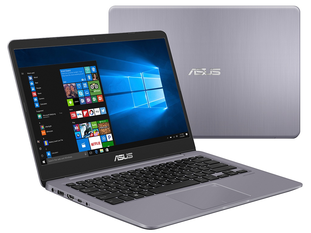 Ноутбук ASUS S410UA-BV1157 90NB0GF2-M18460 (Intel Core i5-8250U 1.6 GHz/4096Mb/500Gb/No ODD/Intel HD Graphics/Wi-Fi/Bluetooth/Cam/14.0/1366x768/Linux)
