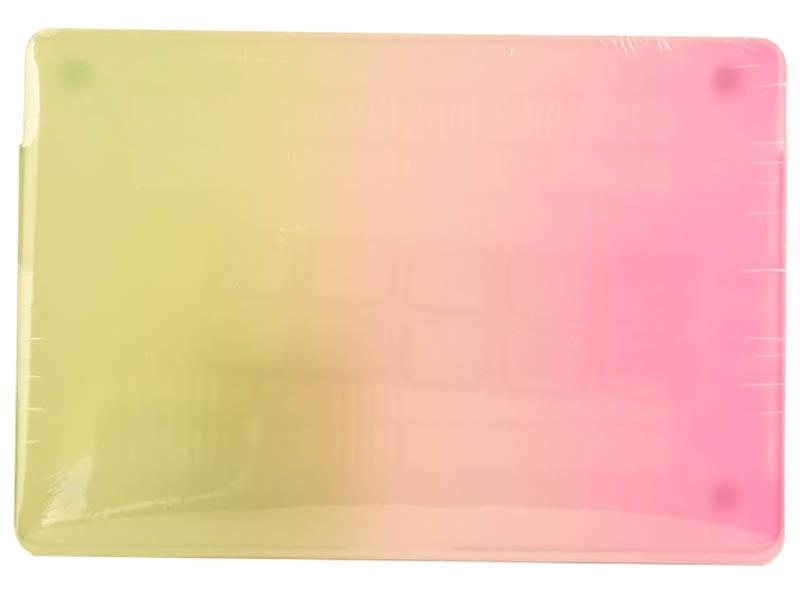 Аксессуар Чехол DF для MacBook Air Retina A1932 MacCase-02 Purple-Green