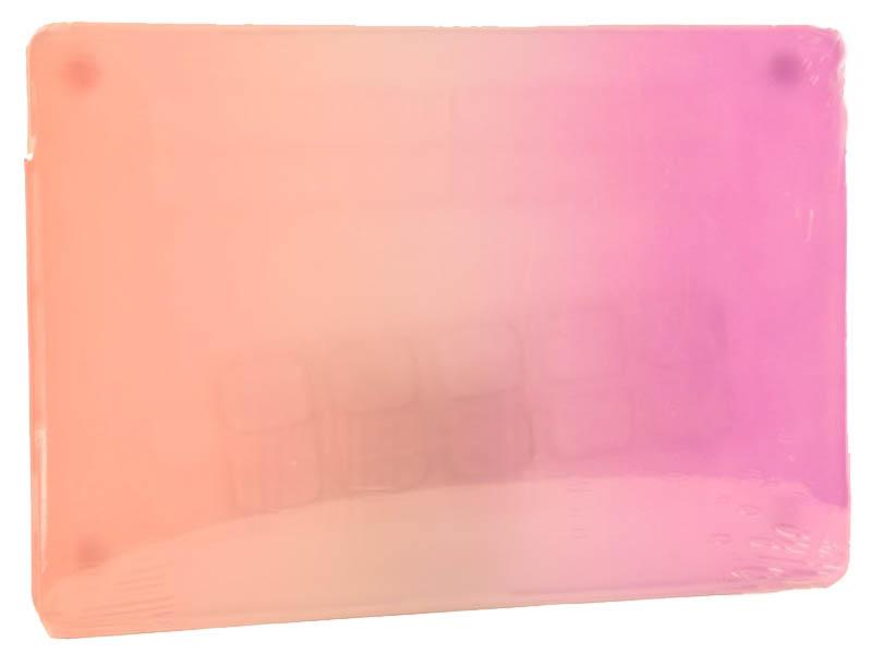 Аксессуар Чехол DF для MacBook Air Retina A1932 MacCase-2 Purple-Orange