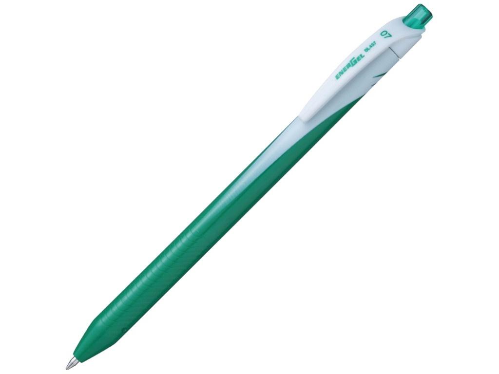 Ручка гелевая Pentel Energel 0.7mm корпус Green, стержень Green BL437-D