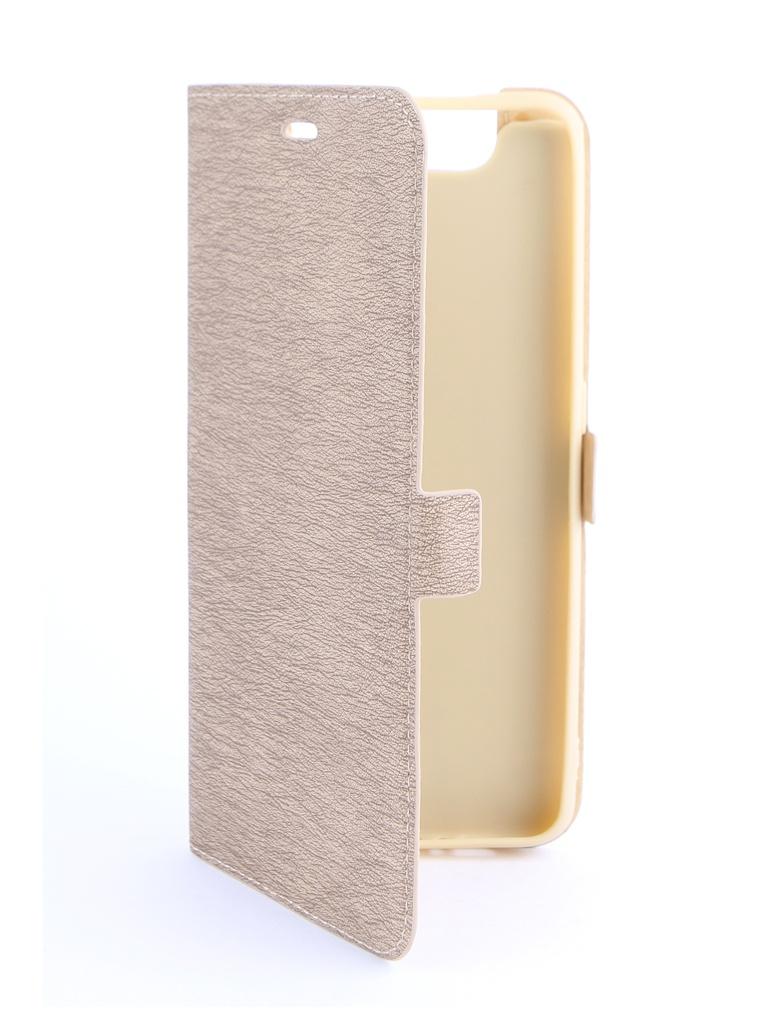 Аксессуар Чехол DF для Samsung Galaxy A80 Gold sFlip-45