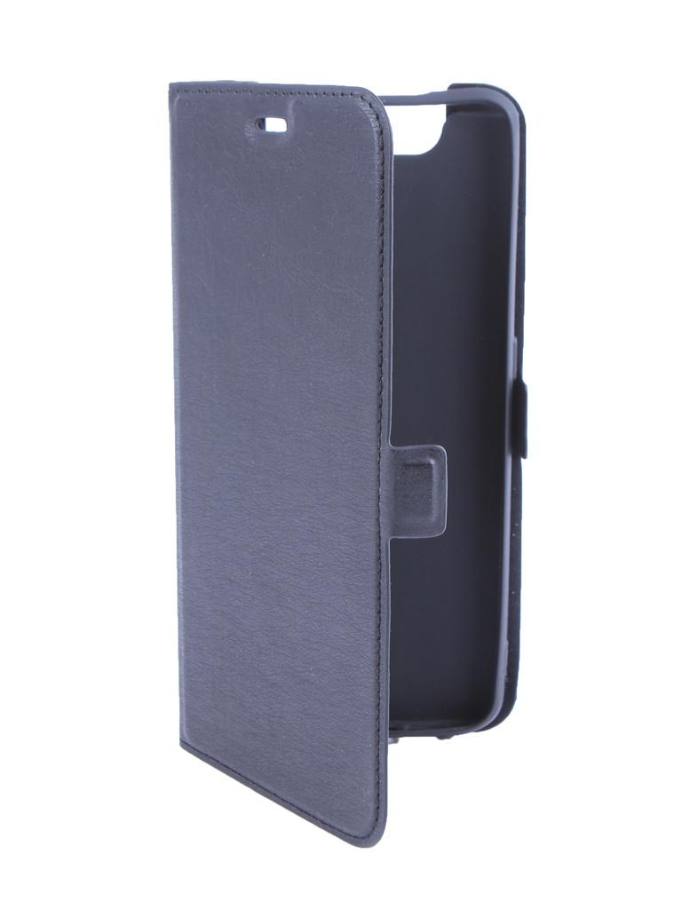 Аксессуар Чехол DF для Samsung Galaxy A80 Black sFlip-45