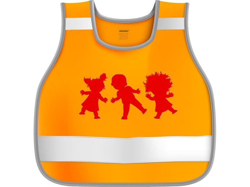 Жилет сигнальный детский Protect Дети р.30-34 рост 122-146 Orange 333-228