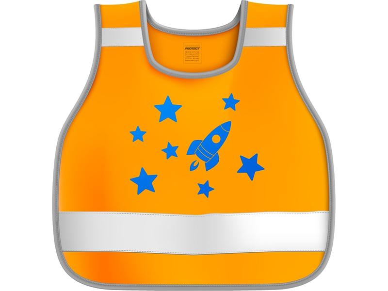 Жилет сигнальный детский Cova Космос р.26-30 рост 98-116 Orange 333-227