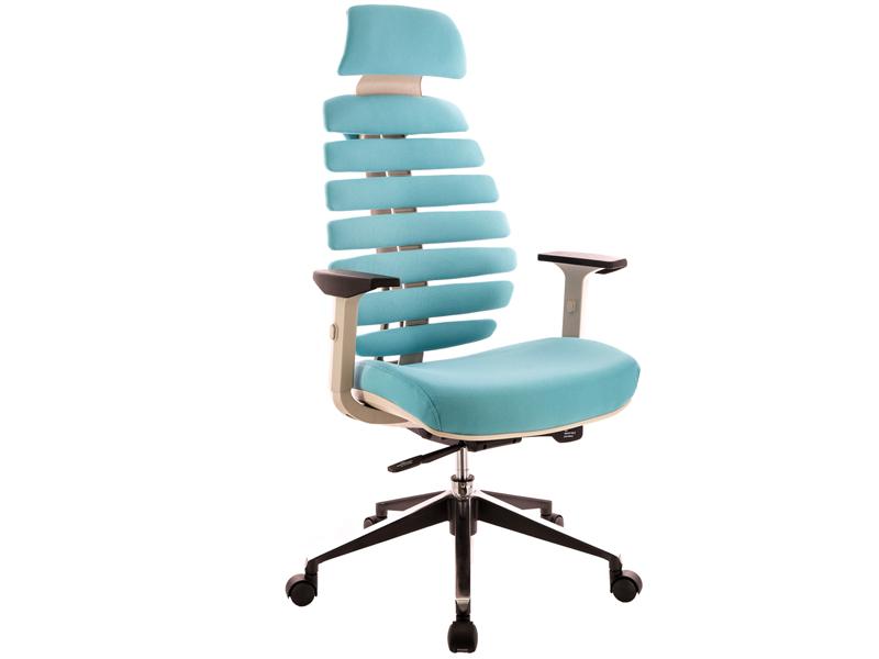 Компьютерное кресло Everprof Ergo Grey ткань Turquoise